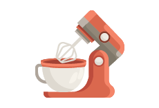 electric food mixer icon