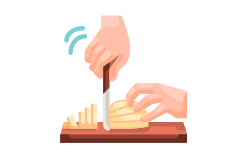 chopping food icon